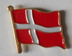 Denmark Country Flag Enamel Pin Badge